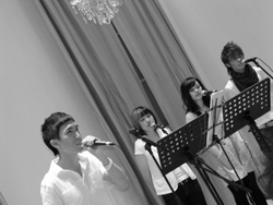 Aaron Matthew Lim at Arts House with Backup Singers
