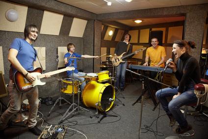 Singers in a Studio